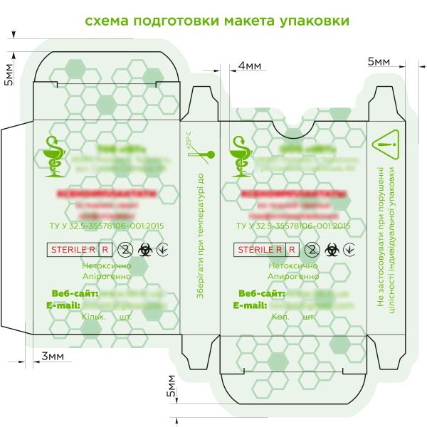 Схема подготовки макета упаковки